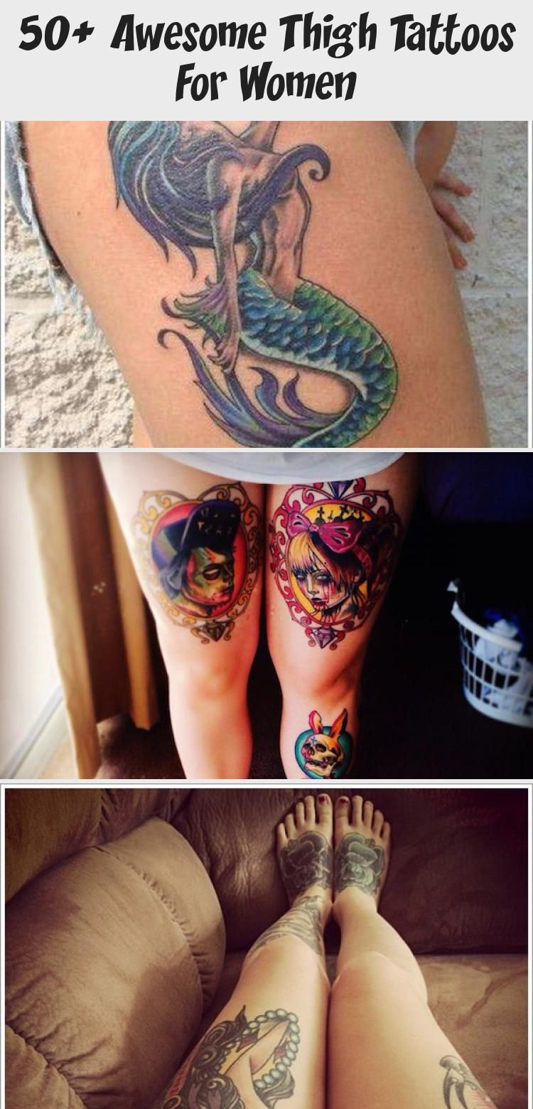 Photo of 50+ Awesome Thigh Tattoos For Women – Tattoos