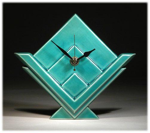 Art Deco Clock Ceramics And Pottery Arts And Resources Art Deco Clock Art Deco Decor Clock Art