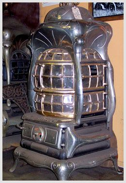 Antique Cast Iron Parlor Heater Burns Wood Or Coal