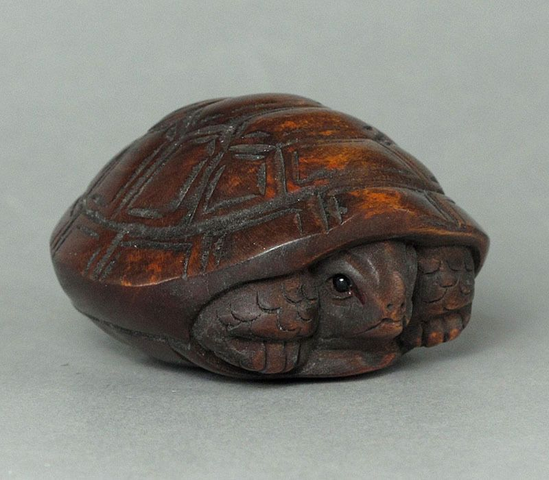 Boxwood wood netsuke quot tortoise carving wn