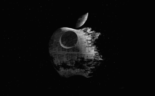 Apple Is To Tech As Star Wars Is To Movies Just Think About It Death Star Wallpaper Star Wars Wallpaper Classic Star Wars