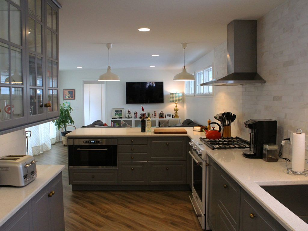 What do you think of this kitchen design for a narrow space coastal