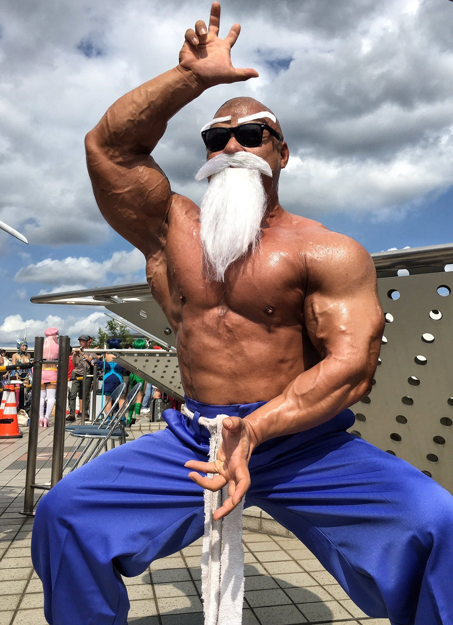 Master Roshi Powered Up Dbz Cosplay Cosplay Anime Cosplay