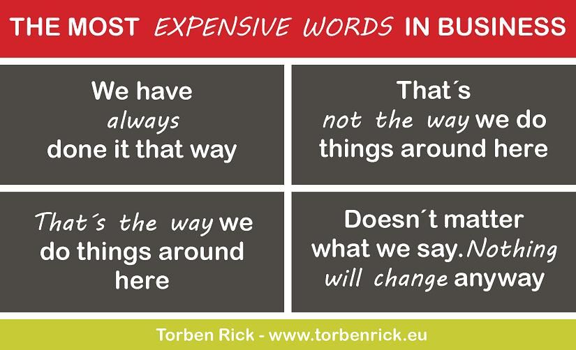 The most expensive words in business How to get money
