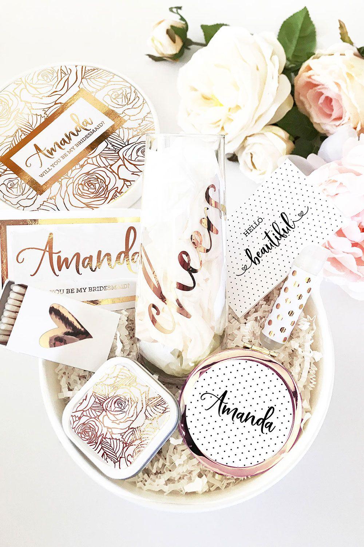 Bridesmaid Gift Box Set Will You Be My Bridesmaid Gifts Bridesmaids Gift Sets Bridesmaid Proposal Box