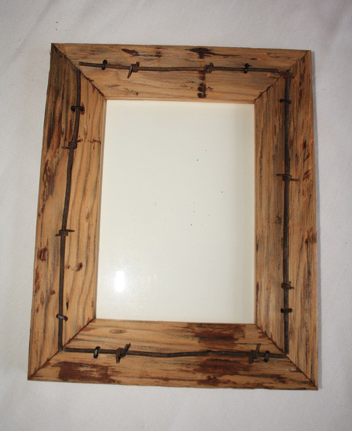 Reclaimed Wood Picture Frame - 5 x 7 - Vintage Telegraph Pole Cross ...