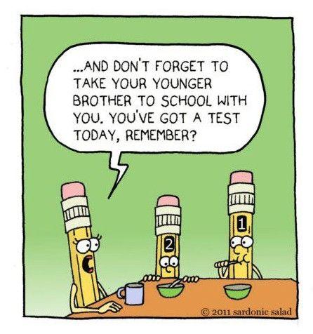 Testing cartoon :) | end of school year and school testing ...