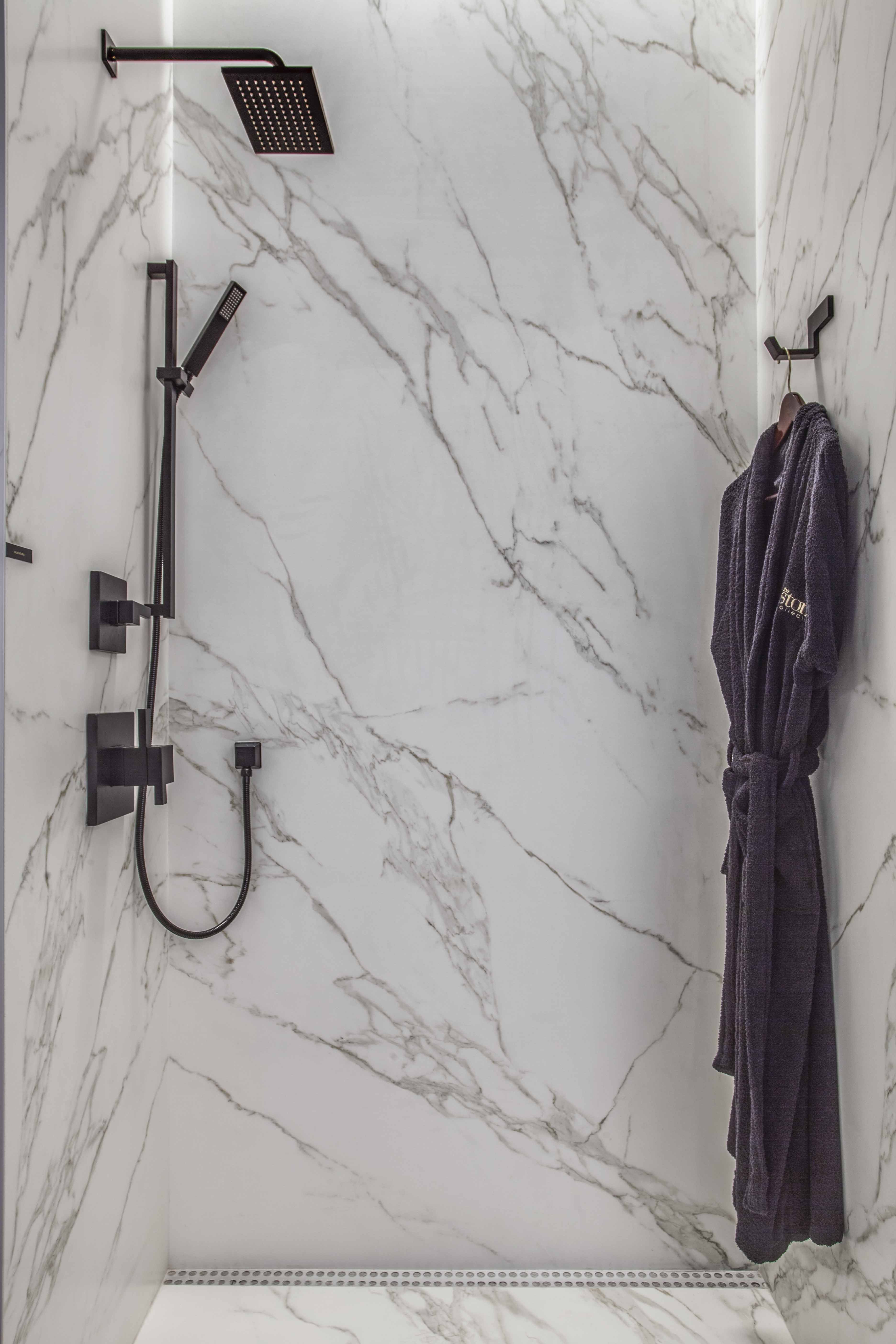 Neolith Calacatta Silk Walk In Shower The Stone Collection