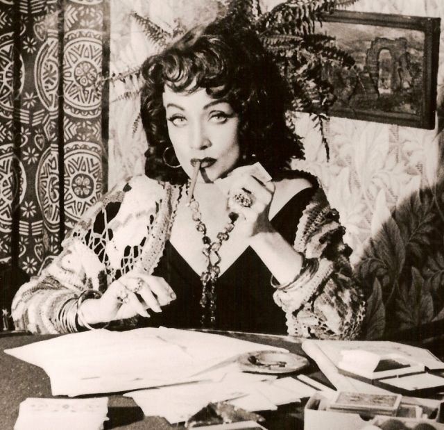 """Marlene Dietrich As The Fortune Teller In """"Touch Of Evil"""