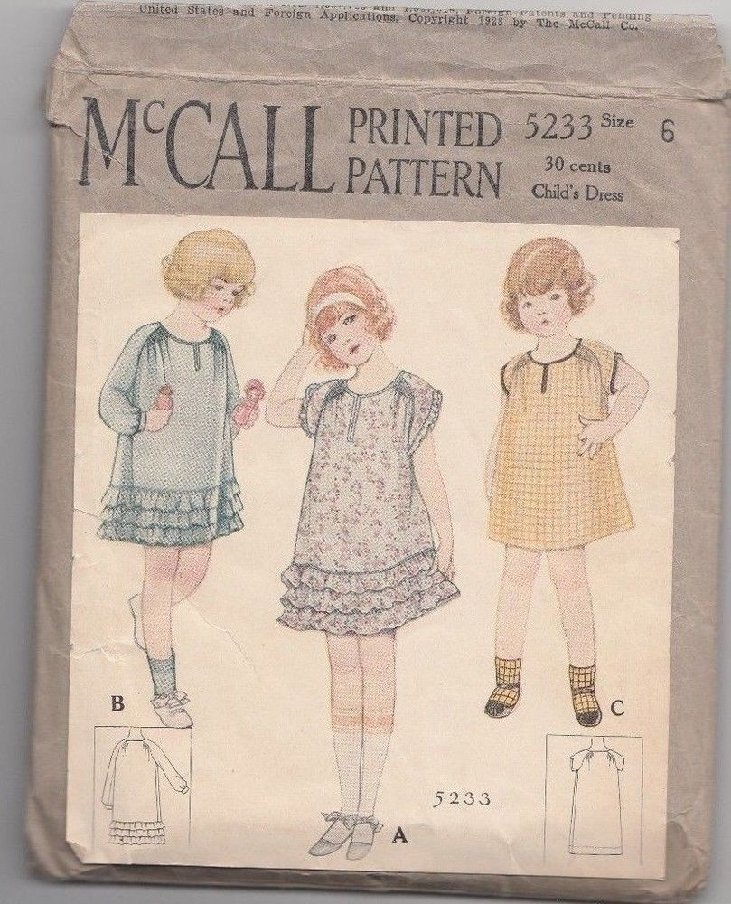 Details about McCall's Sewing & Smocking Pattern Girl's DRESS