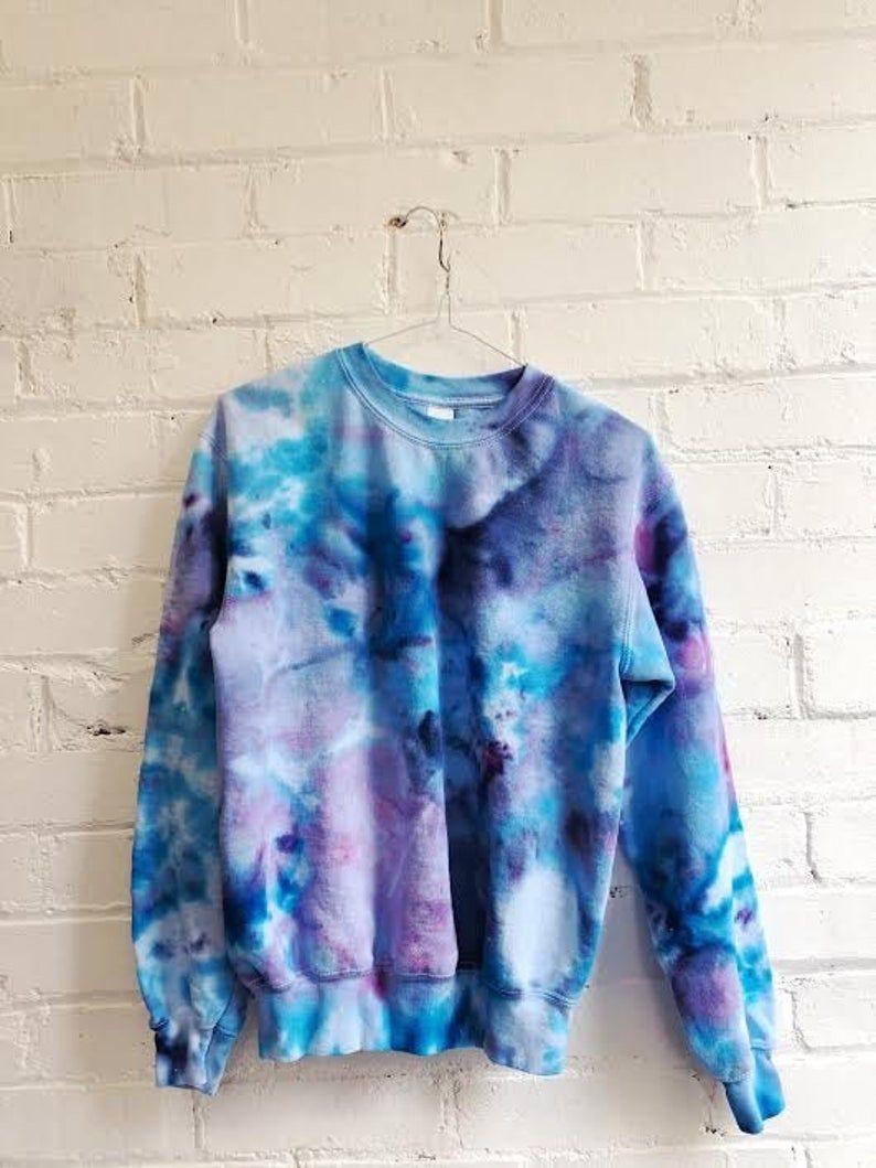 Blue monday tie dye unisex sweatshirt etsy in 2020 tie