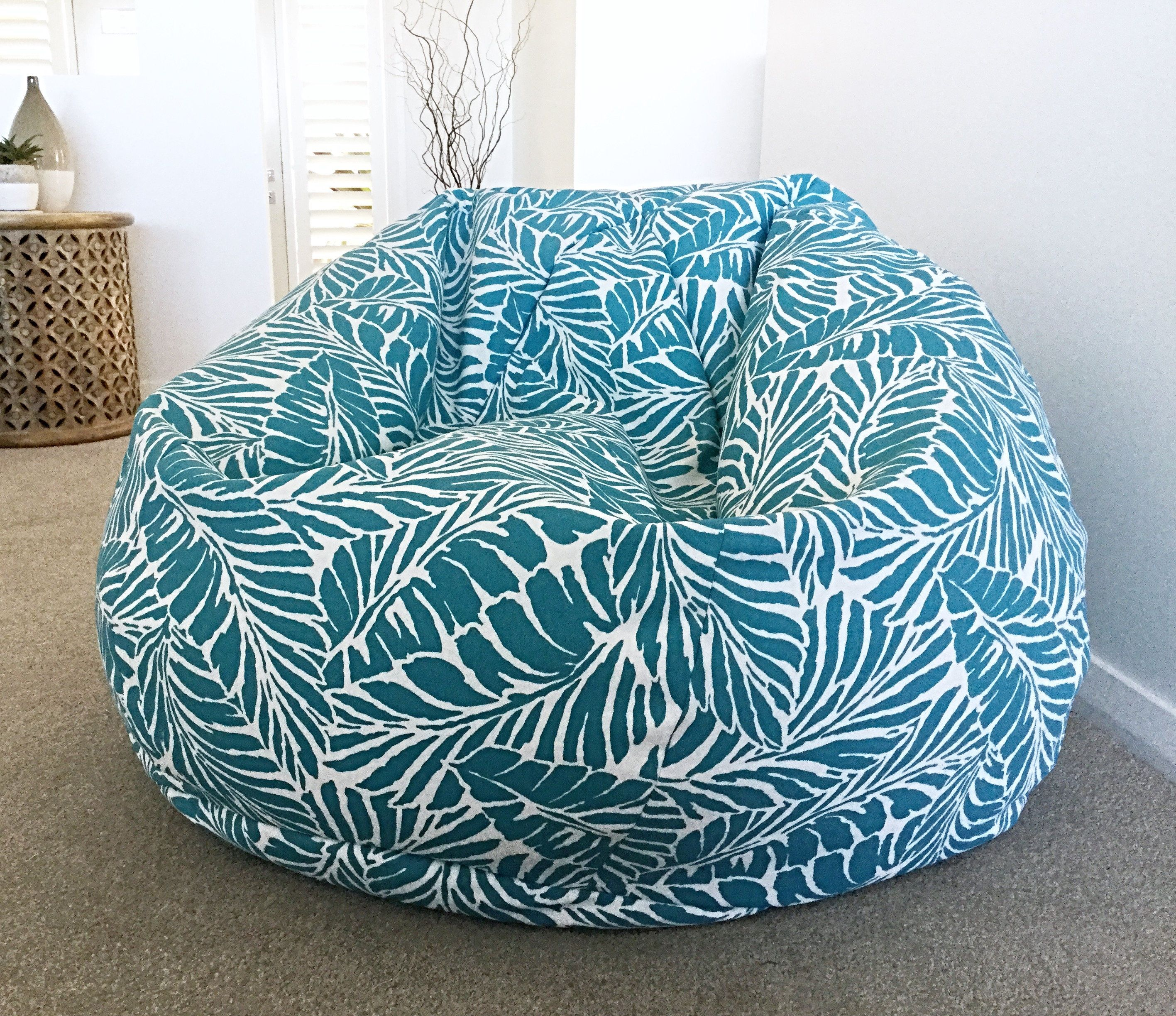Cool Bean Bag Cover Malkus Palm Indoor Outdoor Adults Bean Bag Caraccident5 Cool Chair Designs And Ideas Caraccident5Info