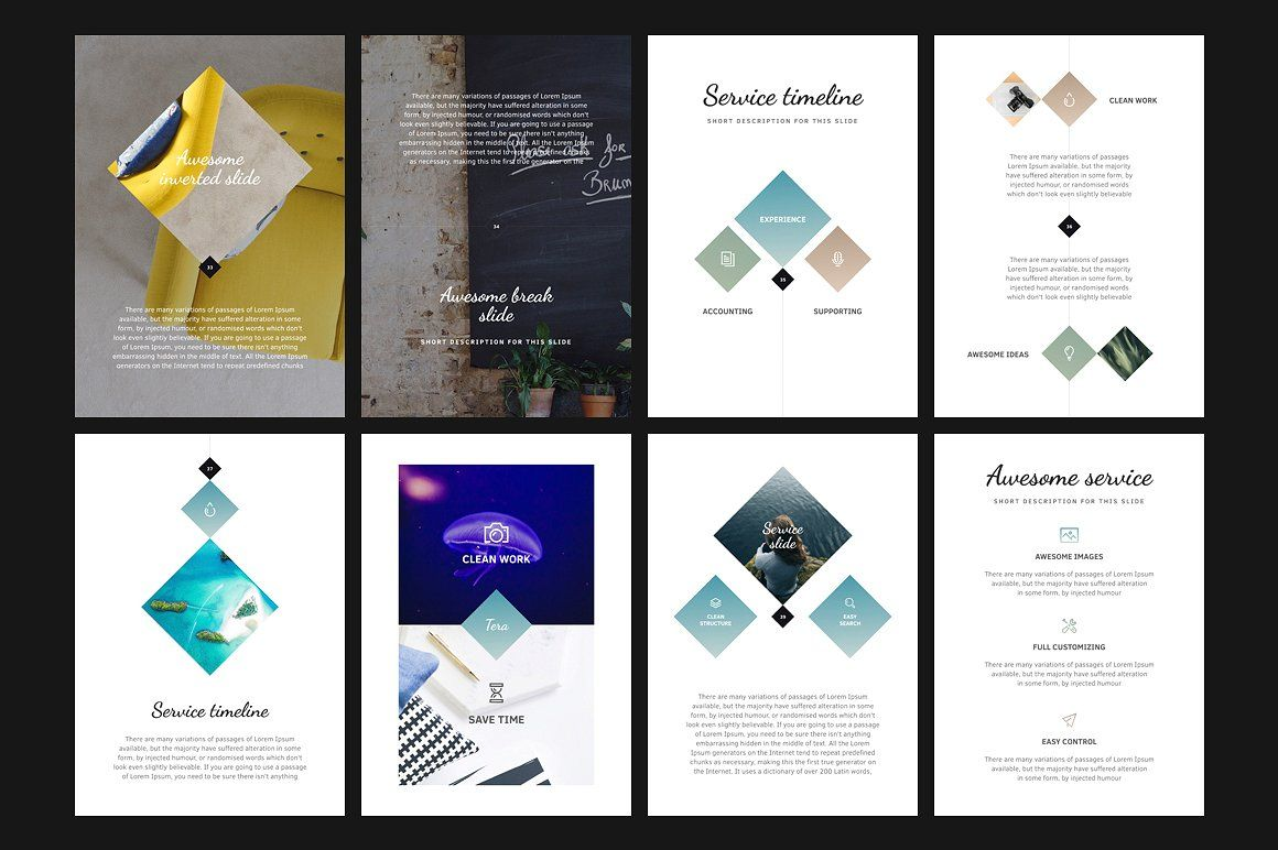 A4 | Tera PowerPoint Template by Entersge on @creativemarket