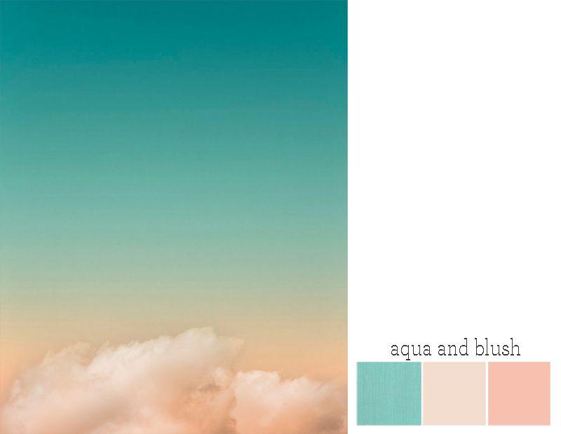 aqua wedding color schemes To see more aqua+blush ideas, check out