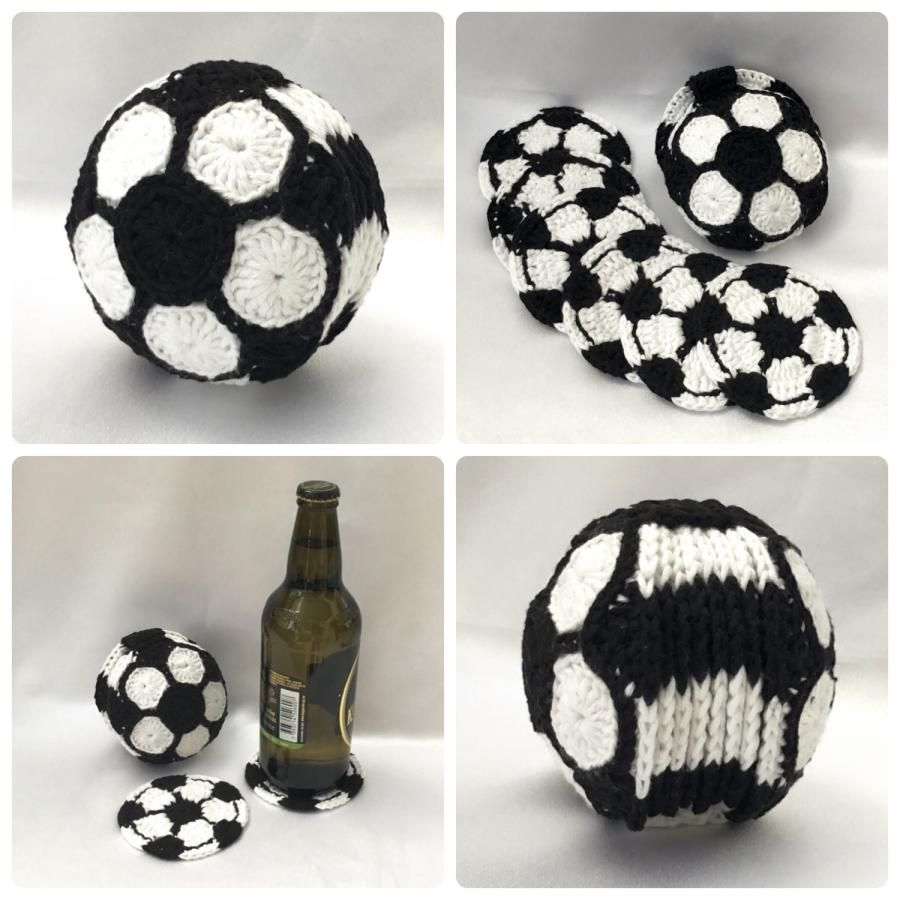 Football Coaster Set - Soccer by Ling Ryan | Crochet-1: All About ...