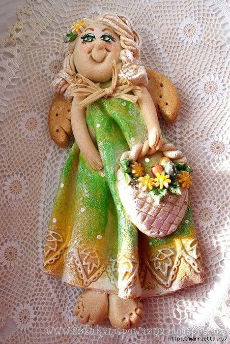 Funny Angelushev Of Salt Dough Master Class Christmas Crafty Diy Spring Crafts Diy Christmas Ornaments