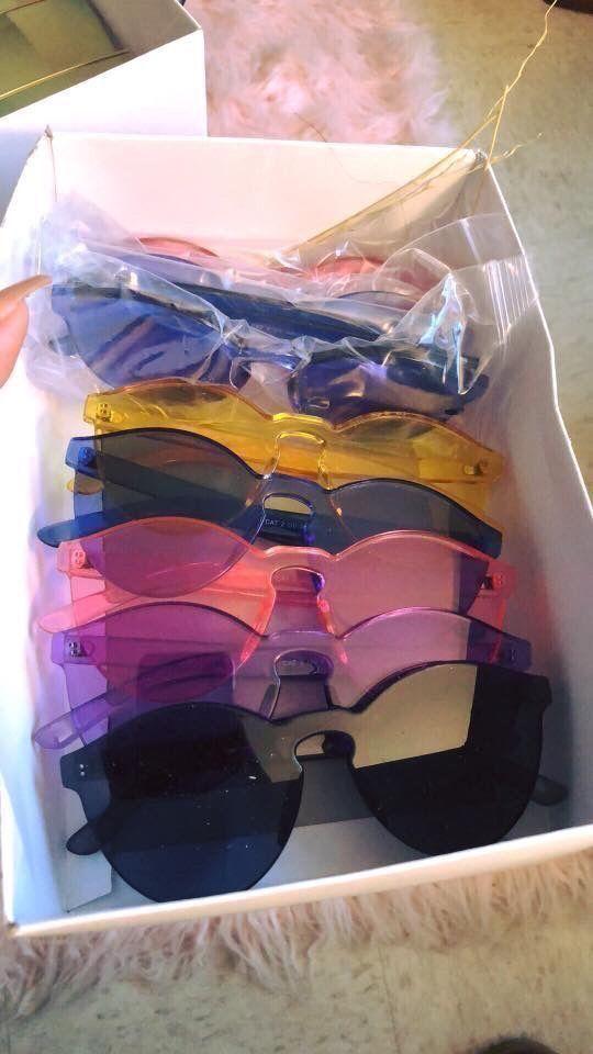 Brillen Sonnenbrillen Sonnenbrillen Tumblr ästhetische Kreis Rahmen Sonne süß…