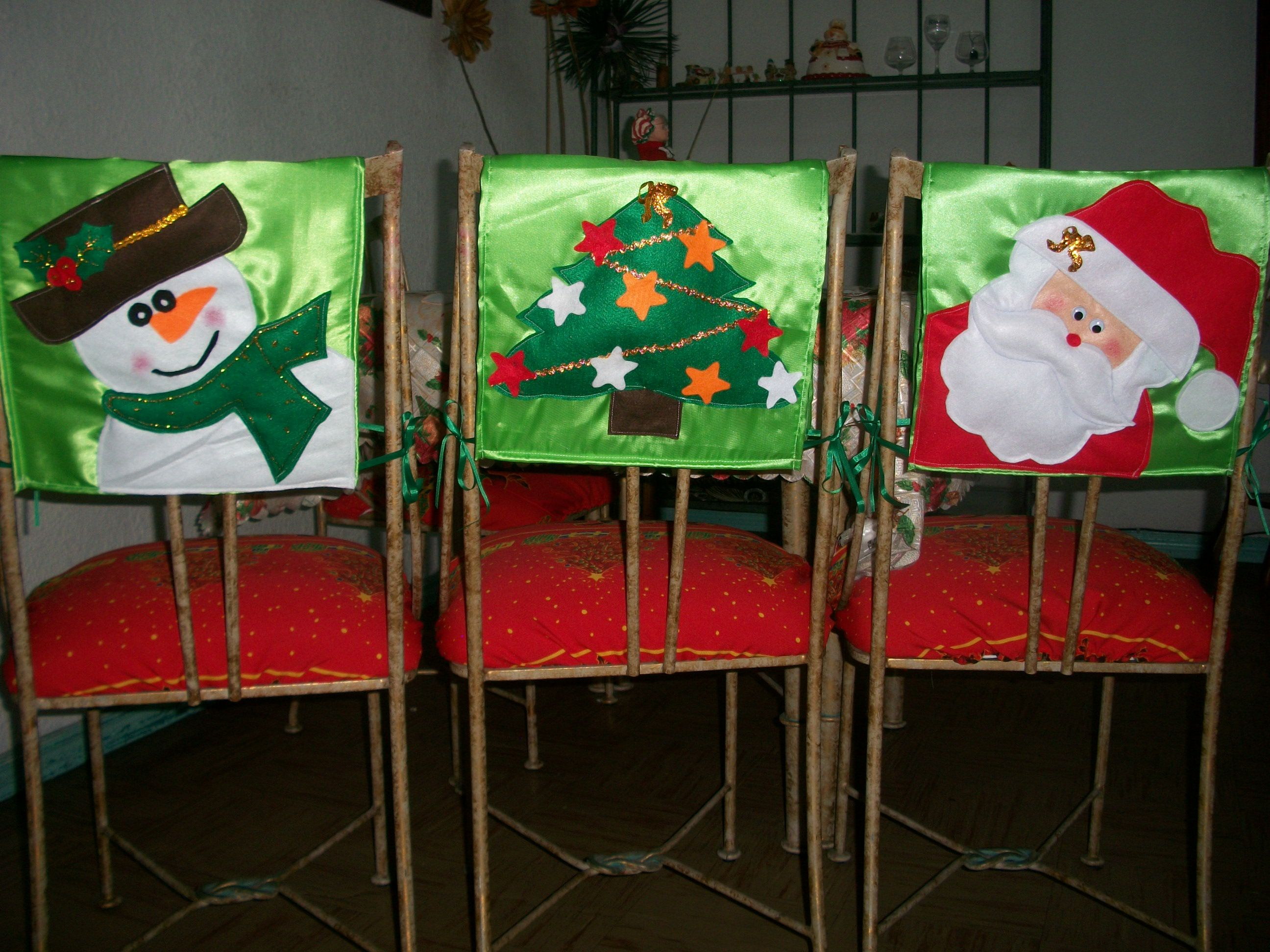 Cubresillas navide os capas cadeiras christmas for Adornos navidenos 2017 trackid sp 006