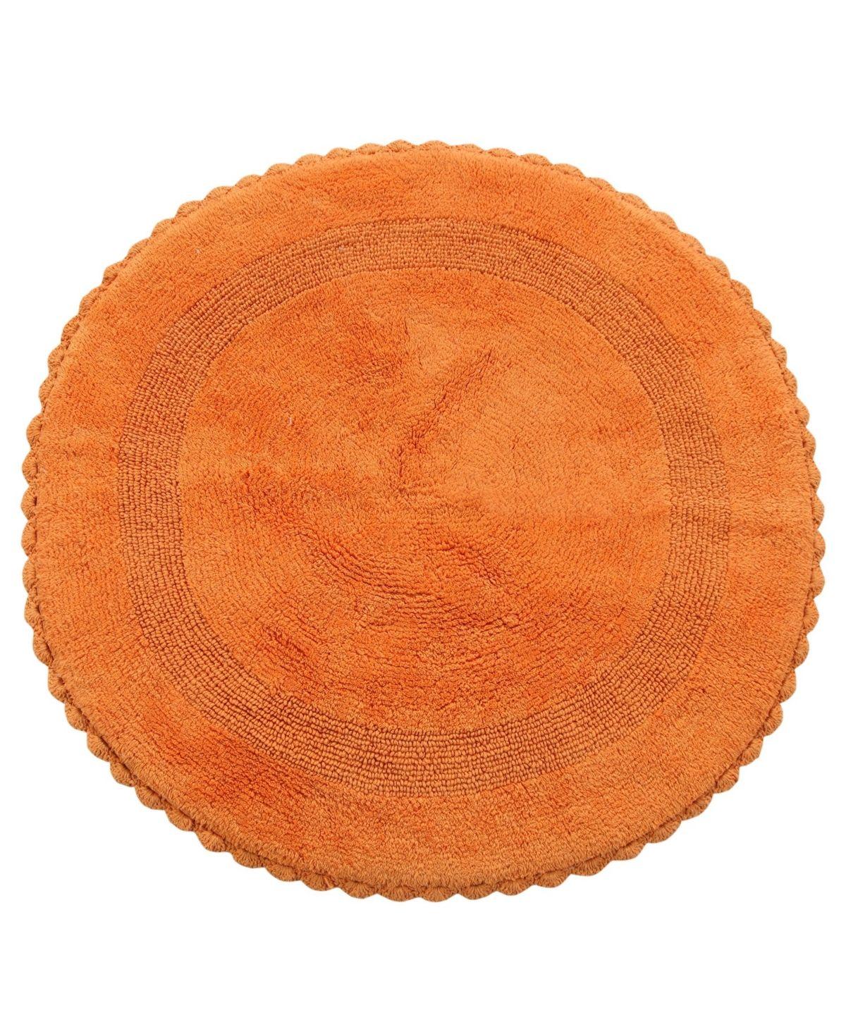 Saffron Fabs Crochet Lace Border 36 Reversible Cotton Round Bath