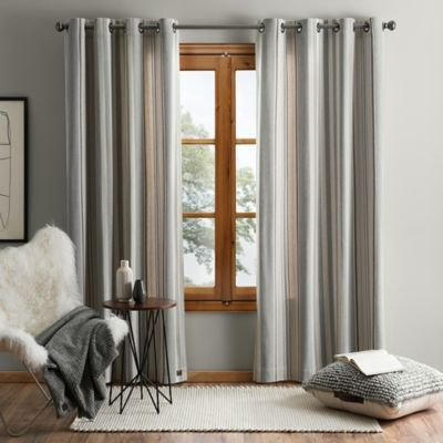 Ugg Lunar Stripe Grommet Window Curtain Panel Panel Curtains