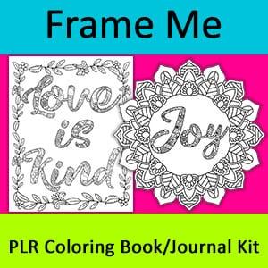 Shop Page 5 Of 6 Color Me Positive Plr Coloring Books Frame Me Artist Books