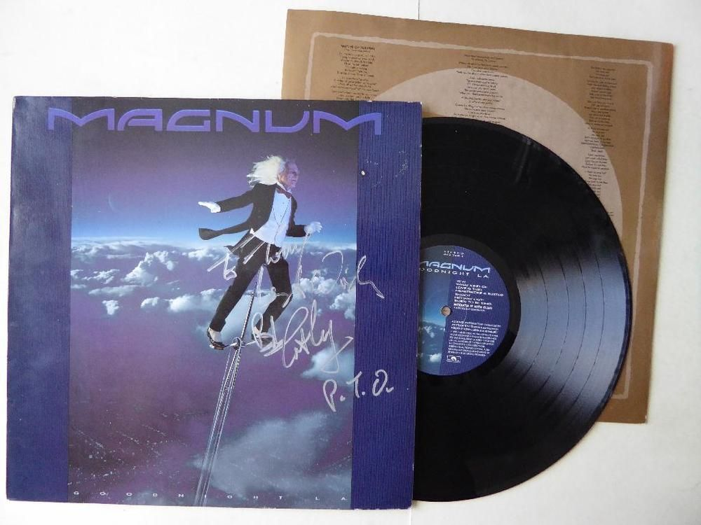 Magnum Goodnight LA Vinyl LP Polydor 843 568-1 With Lyric Inner + Signed Sleeve   http://www.ebay.co.uk/itm/Magnum-Goodnight-LA-Vinyl-LP-Polydor-843-568-1-With-Lyric-Inner-Signed-Sleeve-/371555440839