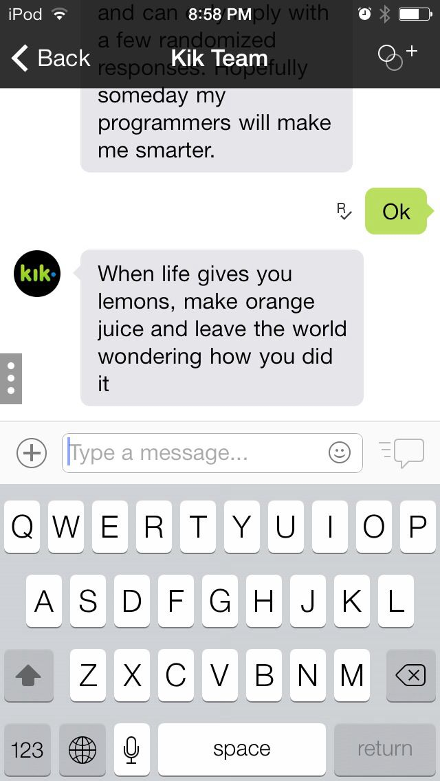 Kik messenger... Funny stuff Dad texts, Funny texts
