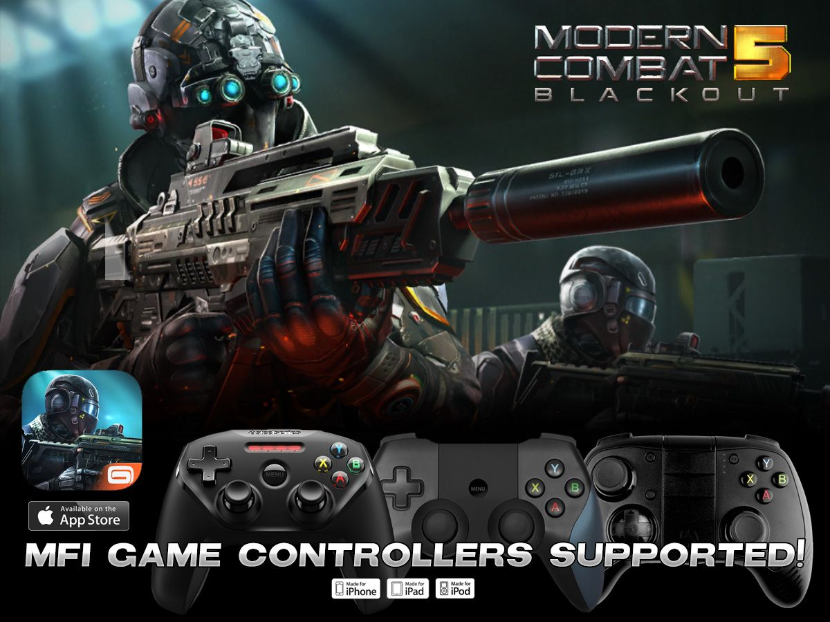 Modern Combat 5 Blackout Updated Full Mfi Controller Support It Plays Awesome Free Download Click Pic Or Press Install Via Th Combat Game Controllers Mfi