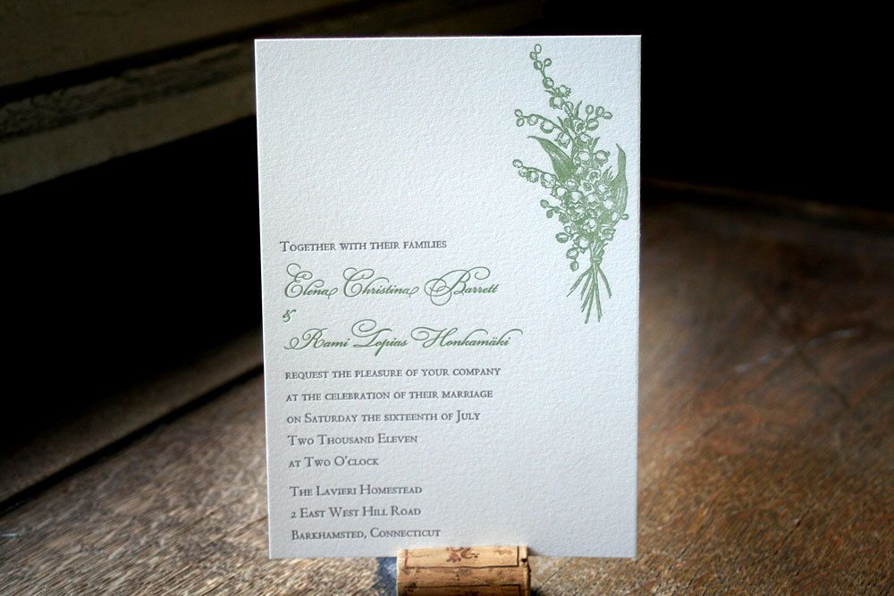 Lily of the valley wedding invitations | Wedding | Pinterest ...