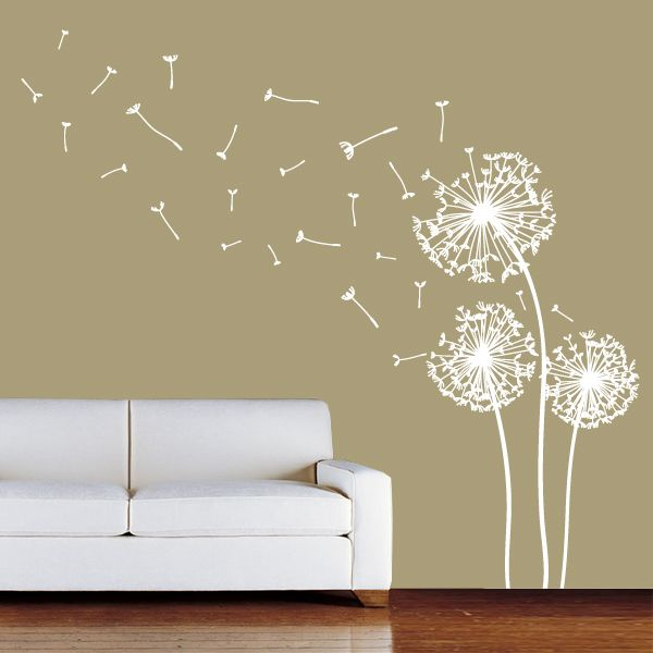Wall Designs Stickers dandelion wall decal sticker | wall decal sticker, wall decals and