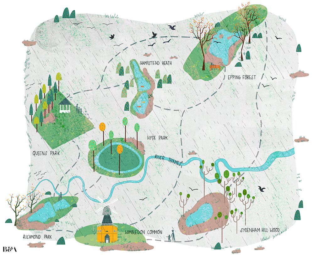 Josie Portillo - Where to find muddy puddles in London for Timeout #london #map
