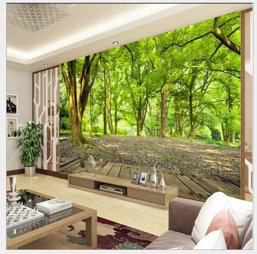 Forest Nature 3d Wall Mural Photo Wallpaper Non Woven Tv Background Room Decor Unbranded Landscape Wallpaper Mural Wallpaper Wall Stickers Living Room