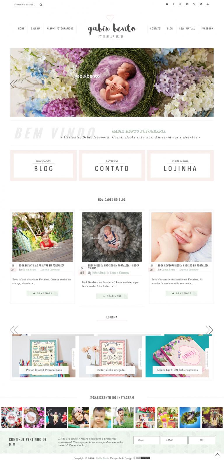 Gabix Bento is a cute Photography webiste running on Lovely ...