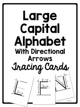 Alphabet Tracing Cards for Letter Formation or Handwriting