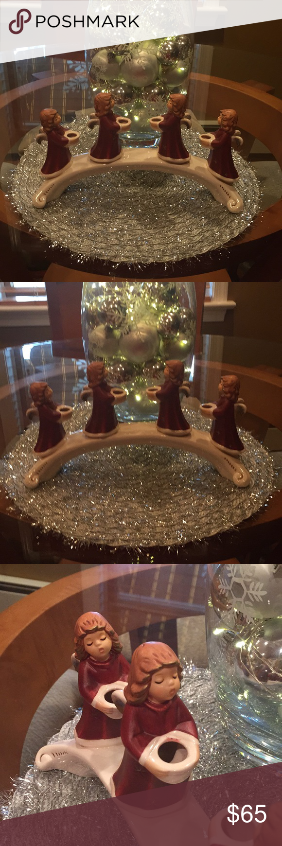 Goebel 1971 Angels On A Bridge Candle Holder In 2020 Candle Holders Candles Beautiful Christmas