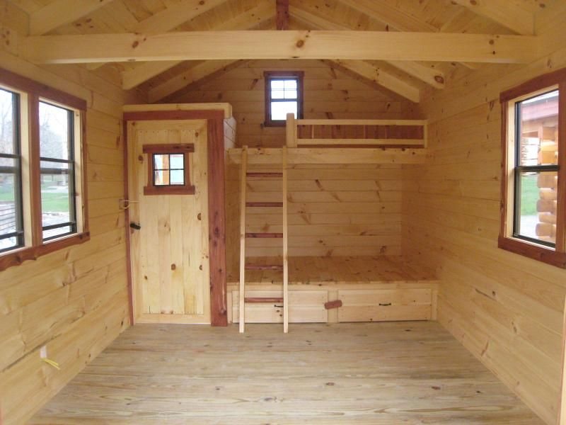 Beds and adding a rear rustic cabin bunk bed plans loft with ...