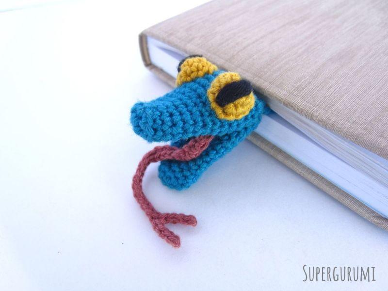 Amigurumi Snake Bookmark crochet pattern by Supergurumi | Marcadores ...