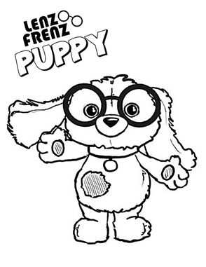Cute puppy Lenz Frenz coloring page! See more and check