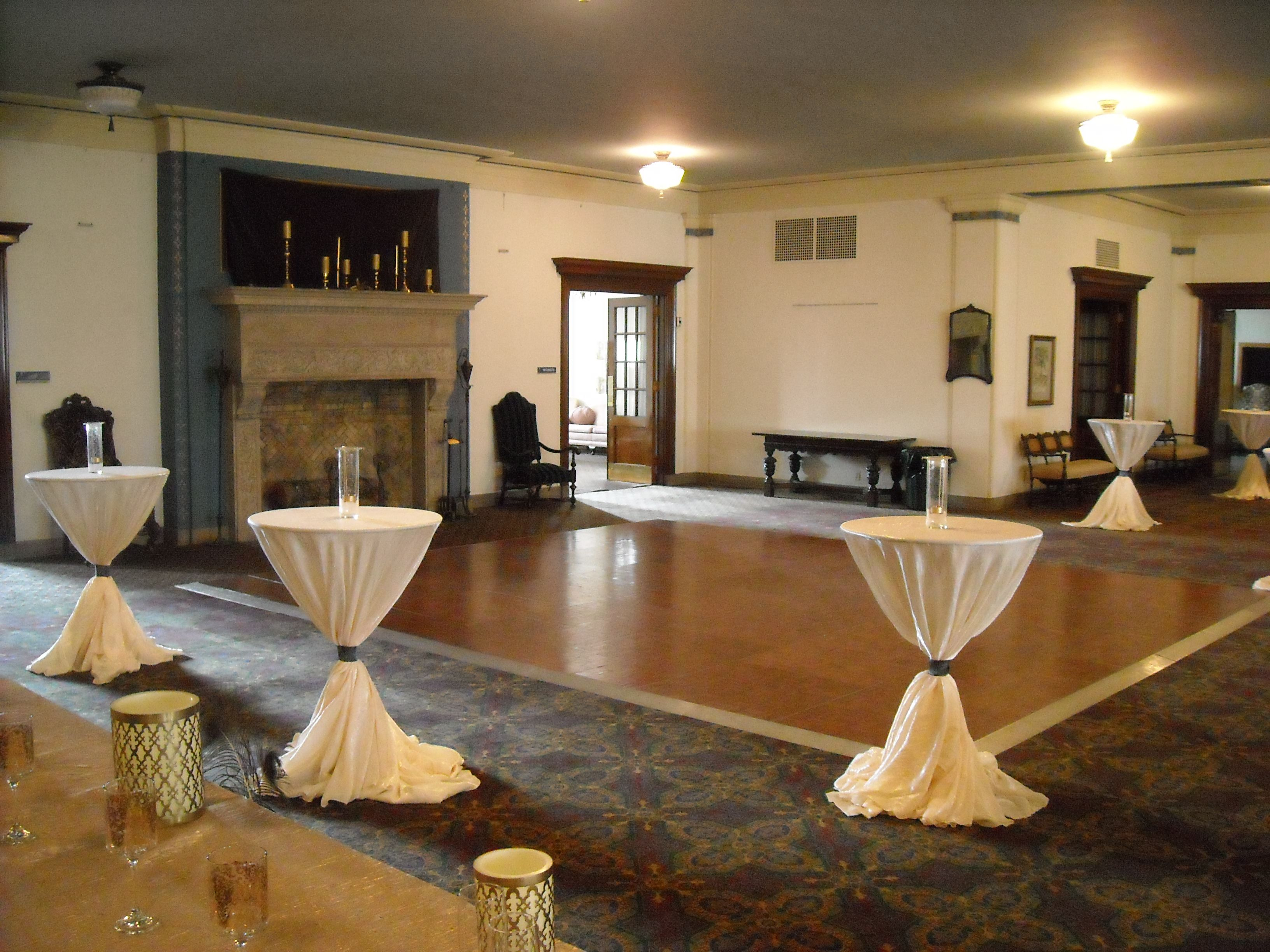 Preparing The Tapestry Lounge For A Reception Des Moines Scottish Rite Building Wedding