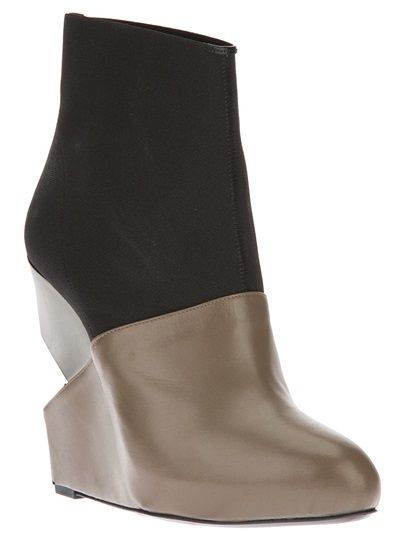 CHARLINE DE LUCA Cut-Out Wedge Boot