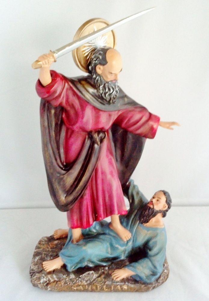 13 Inch Saint St Elijah San Santo Elias Statue Religious Figurine Religious