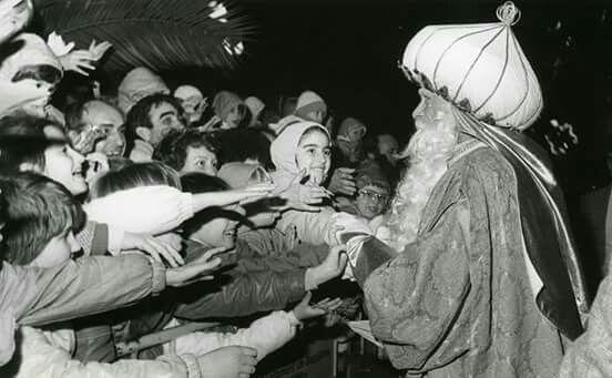 Cabalgata de reis any 1986. Foto Perez  de Rozas.