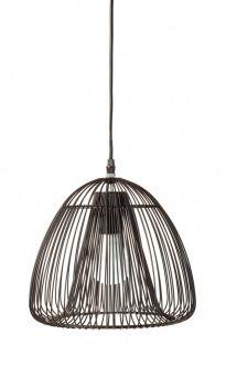 Hängeleuchte Draht, rund, 27 x 28 cm - Die hängende Lampe hat einen ...