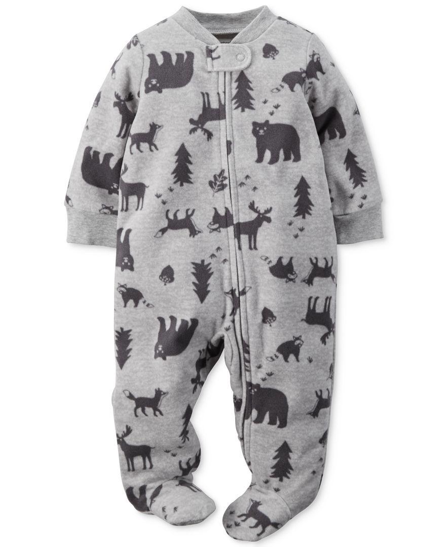 Carter's Baby Boys' Wildlife Footed Pajamas
