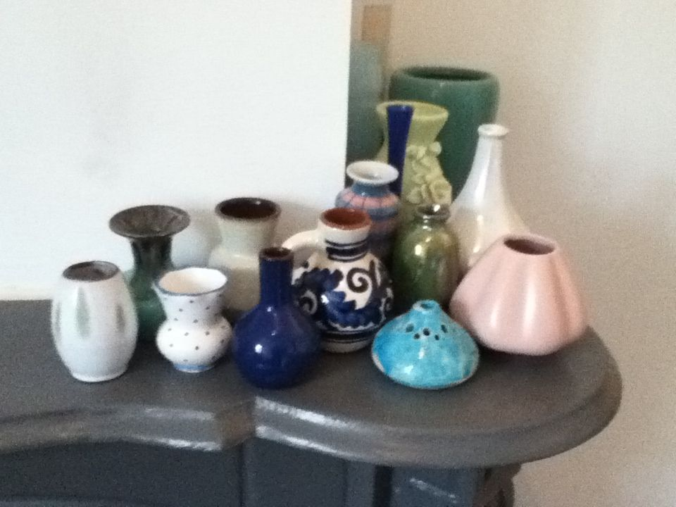 A lot of little vases...need some flowers!