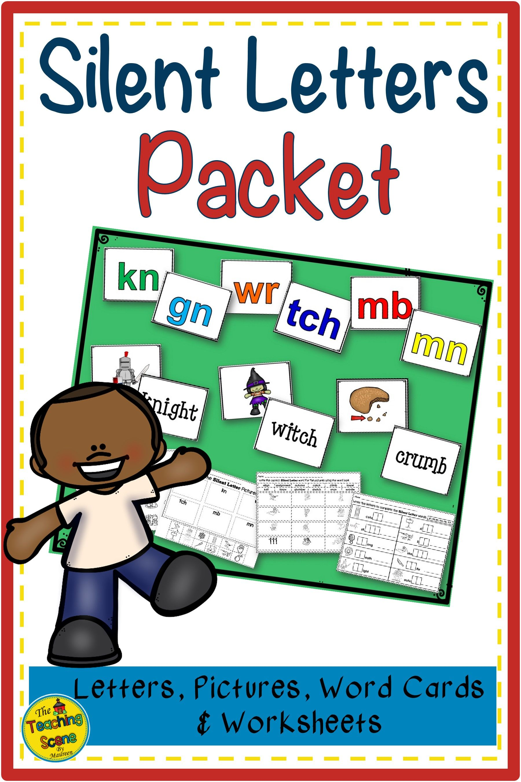 Silent Letters Packet Letters Pictures Words