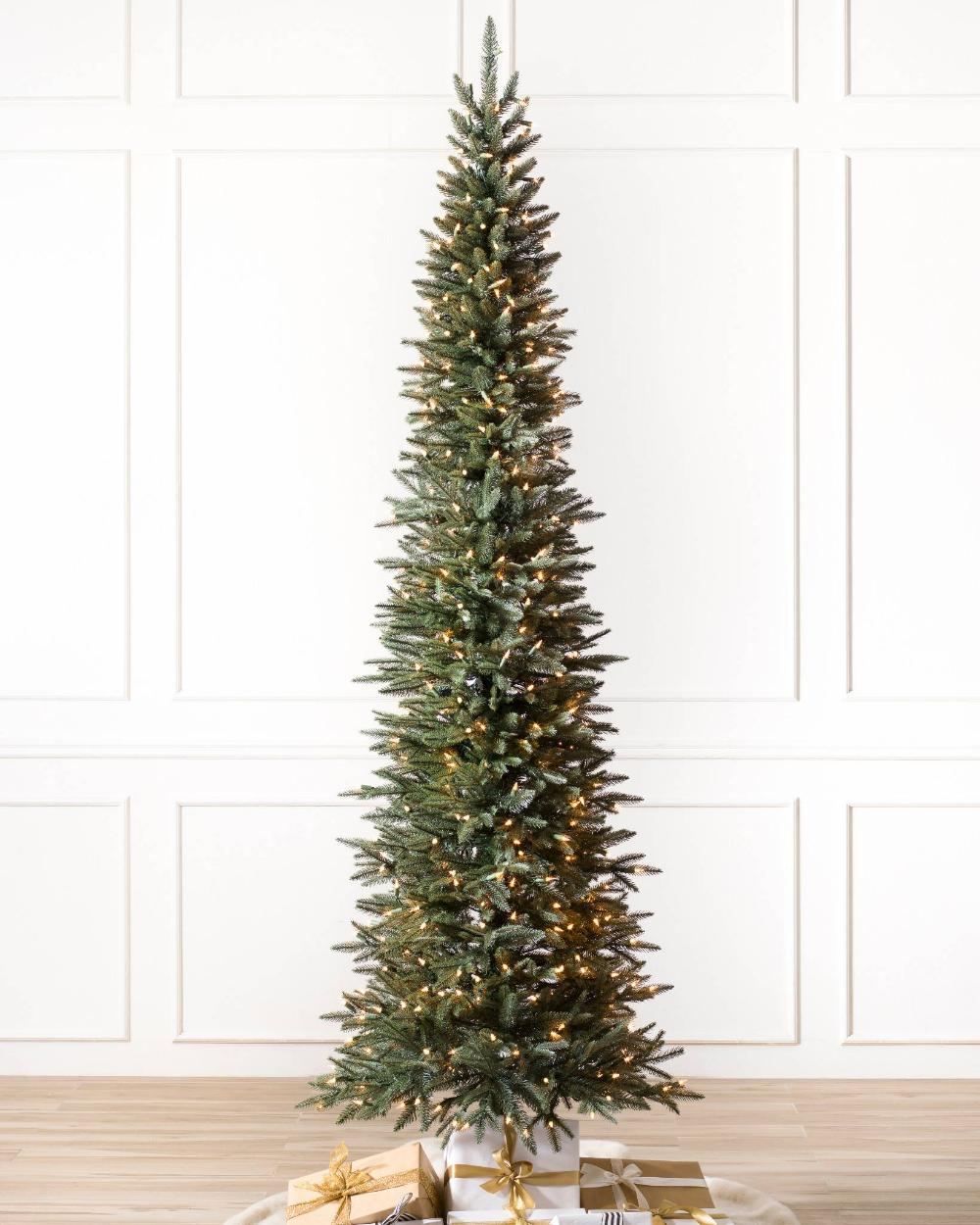 Revelstoke Downswept Fir Artificial Christmas Tree Balsam Hill Slim Artificial Christmas Trees Artificial Christmas Tree Christmas Tree