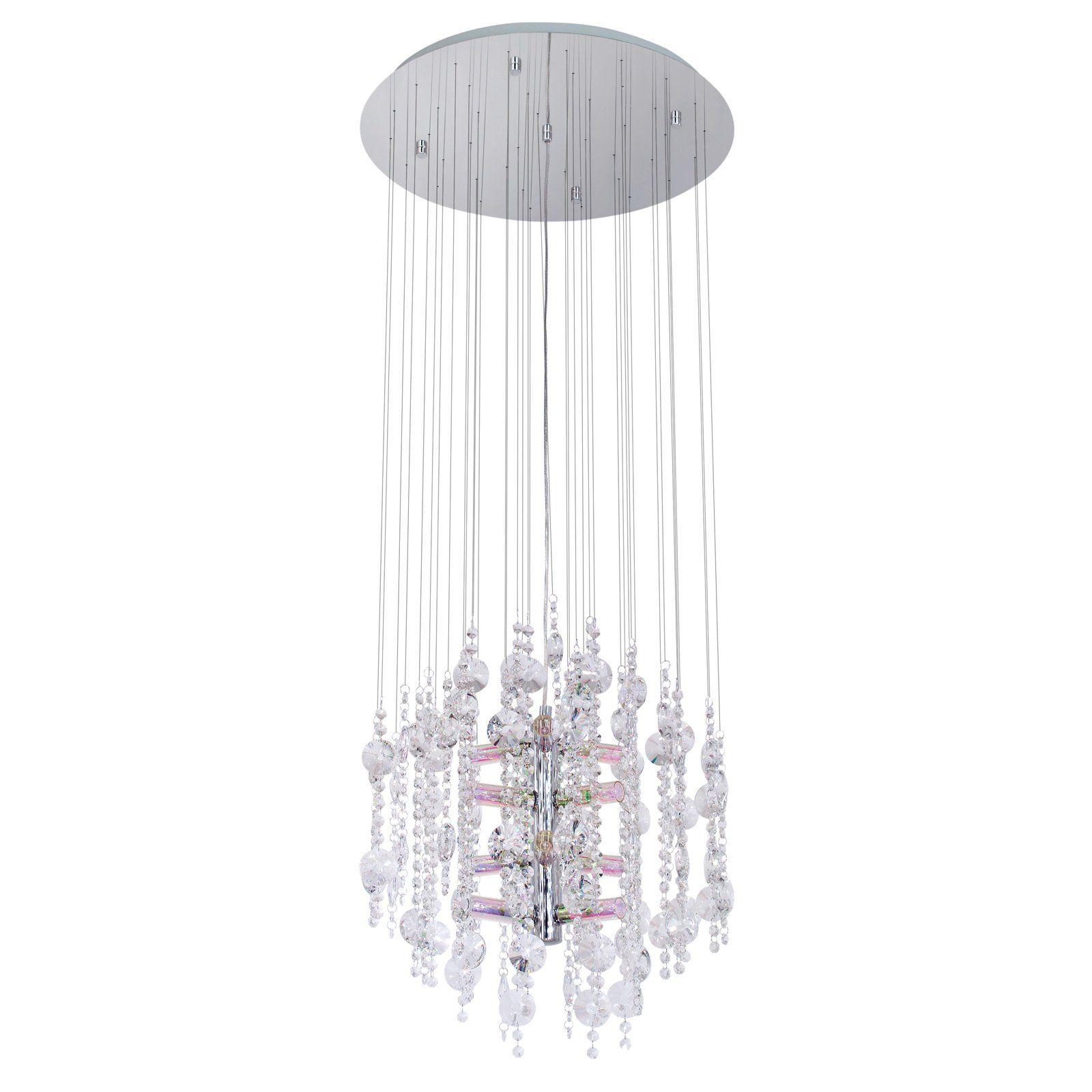 Eglo Usa Alexandria Hanging Light Shimmering Crystals Suspend From The Adds Brilliant Style This Features