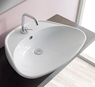 DAFNE LAVABO DA APPOGGIO 64X46 #arredamento #bagno | Lavabi bagno ...