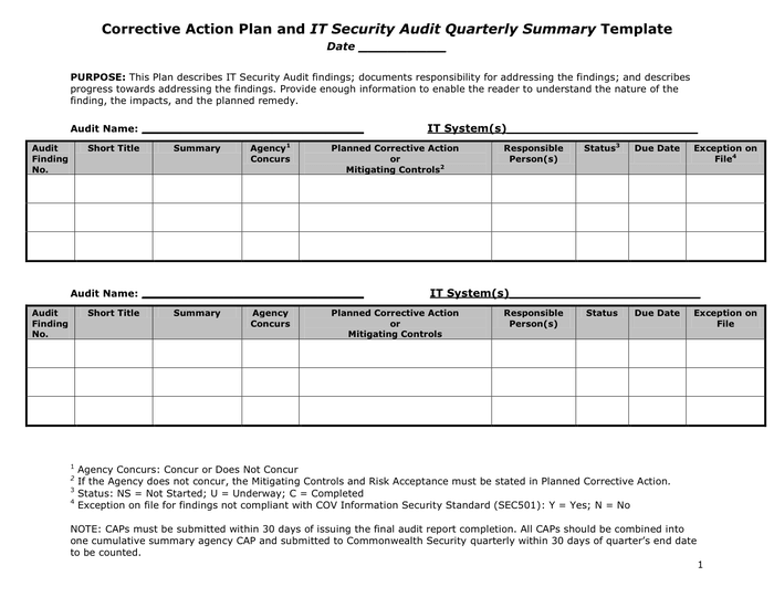 21 Free Word & Excel Action Plan Templates Excel Word PDF